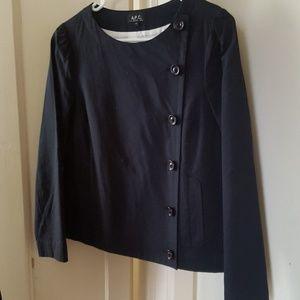 A.P.C. Jacket/Blazer in Navy Cotton